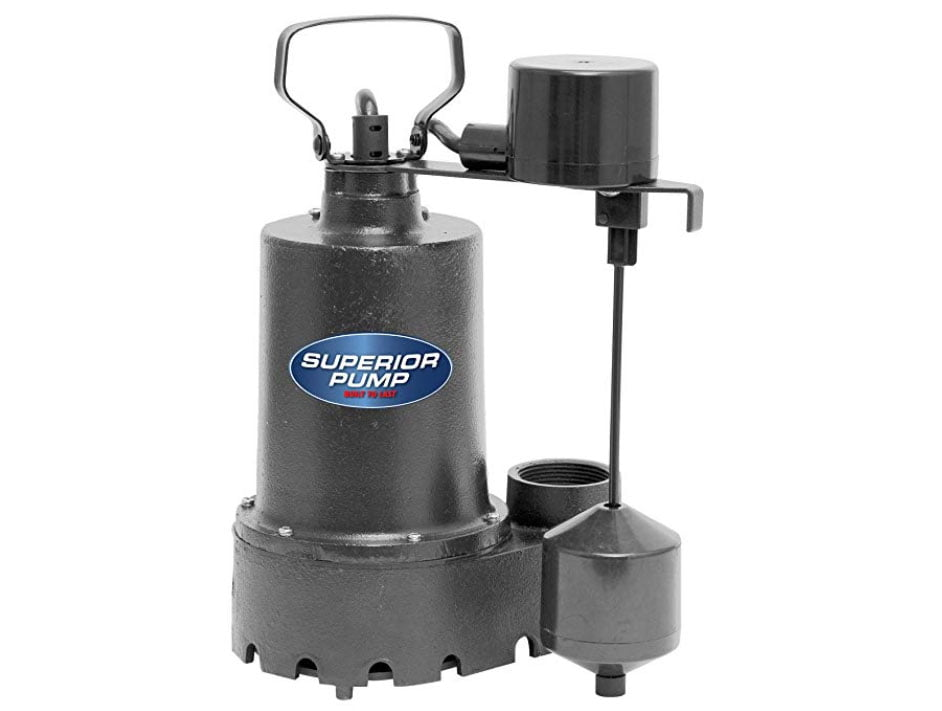 Superior Pump 92341 HP Cast Iron Submersible Sump Pump – With an Amazingly Sturdy Construction.