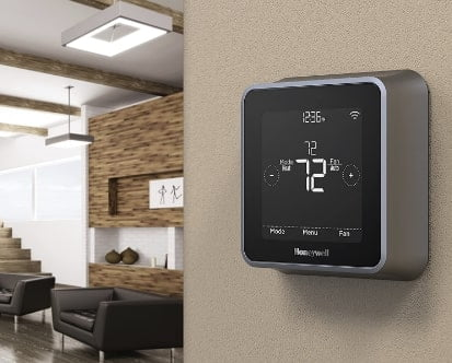 Honeywell RCHT8610WF2006 Lyric T5 Wi-Fi Smart 7 Day Programmable Touchscreen Thermostat with Geofencing