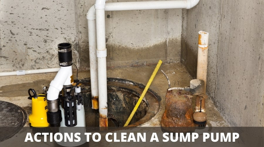 How to clean a sump pump pit